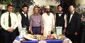 Staff at the Bilash Tandoori Restaurant